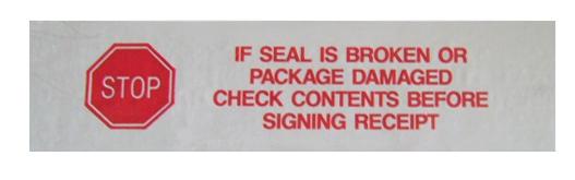 Security Tape Stop If Seal Is Broken